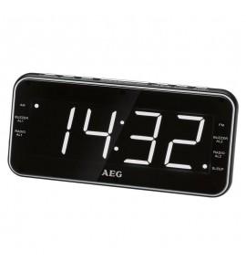 Radiobudzik AEG MRC 4157 czarno-biały